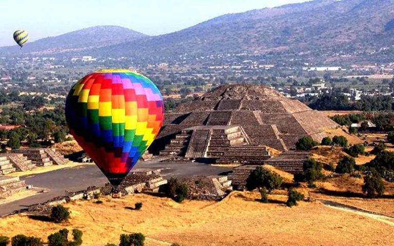 Теотиуакан на воздушном шаре