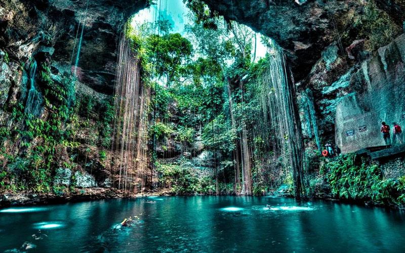 сенот Юкатан — подземное озеро Ик-Киль