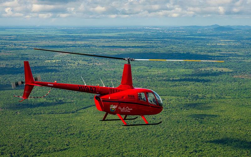 Полет на вертолете над Доминиканой