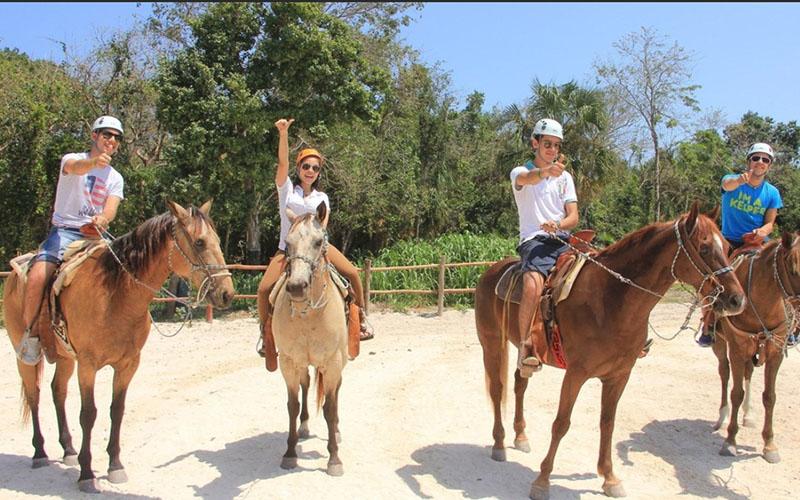 путешествие на лошадях в Доминикане