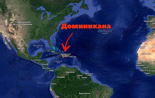 Где находится Доминикана